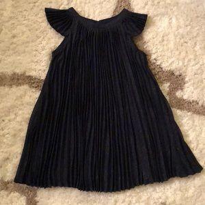 BabyGap Pleated Sparkle Navy Flutter Dress Sz 2